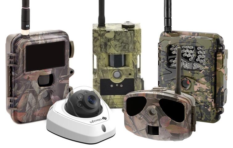 Seneram är kompatibel med alla skickande jakt- och övervakningskameror